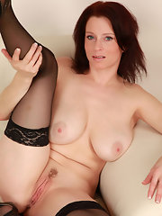 Stockings tits girl redhead sexy cute