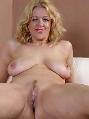 Curly Blonde Milf