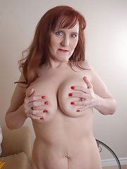 tits redhead Busty pale