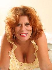 Redhead elegant busty